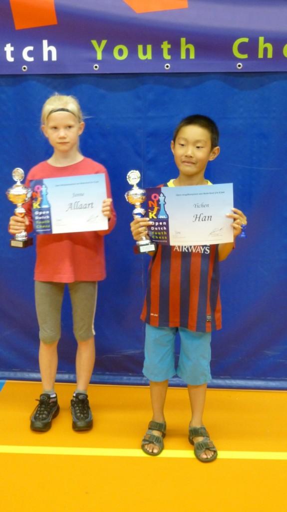 Janne en Yichen kampioen
