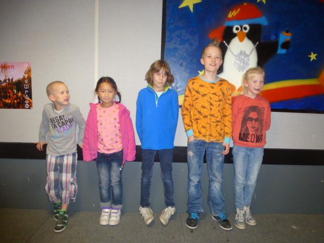 vlnr Joppe, Wendy, Lieke, Jesse en Janne