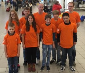 De Nederlandse delegatie met links vooraan Alexander Rutten