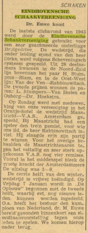 Dagblad van het Zuiden, 12 december 1943