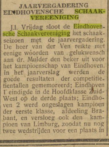 Dagblad van het Zuiden, 30 juni 1943. Kolom links onder.