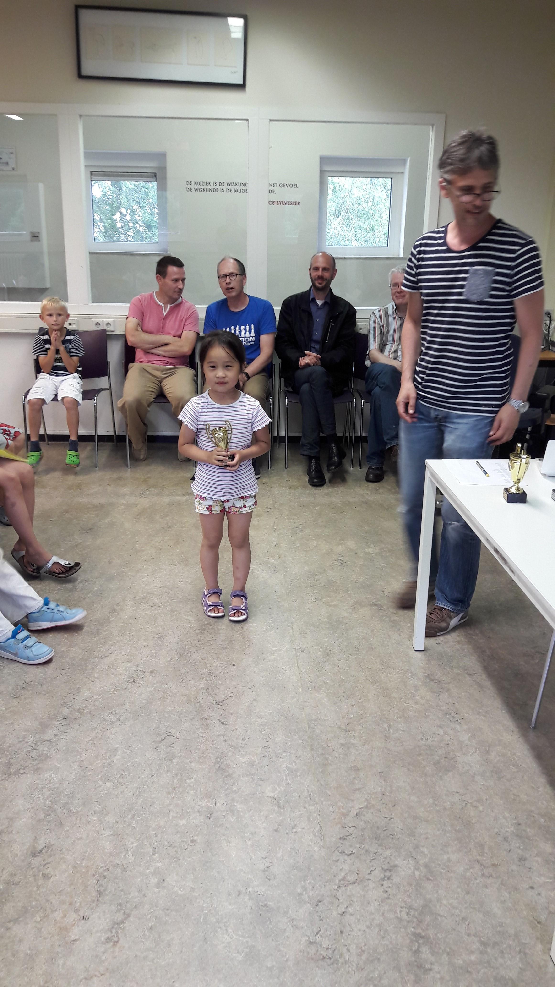 Luna werd eerste in groep B. Voor haar is het al de zoveelste beker.
