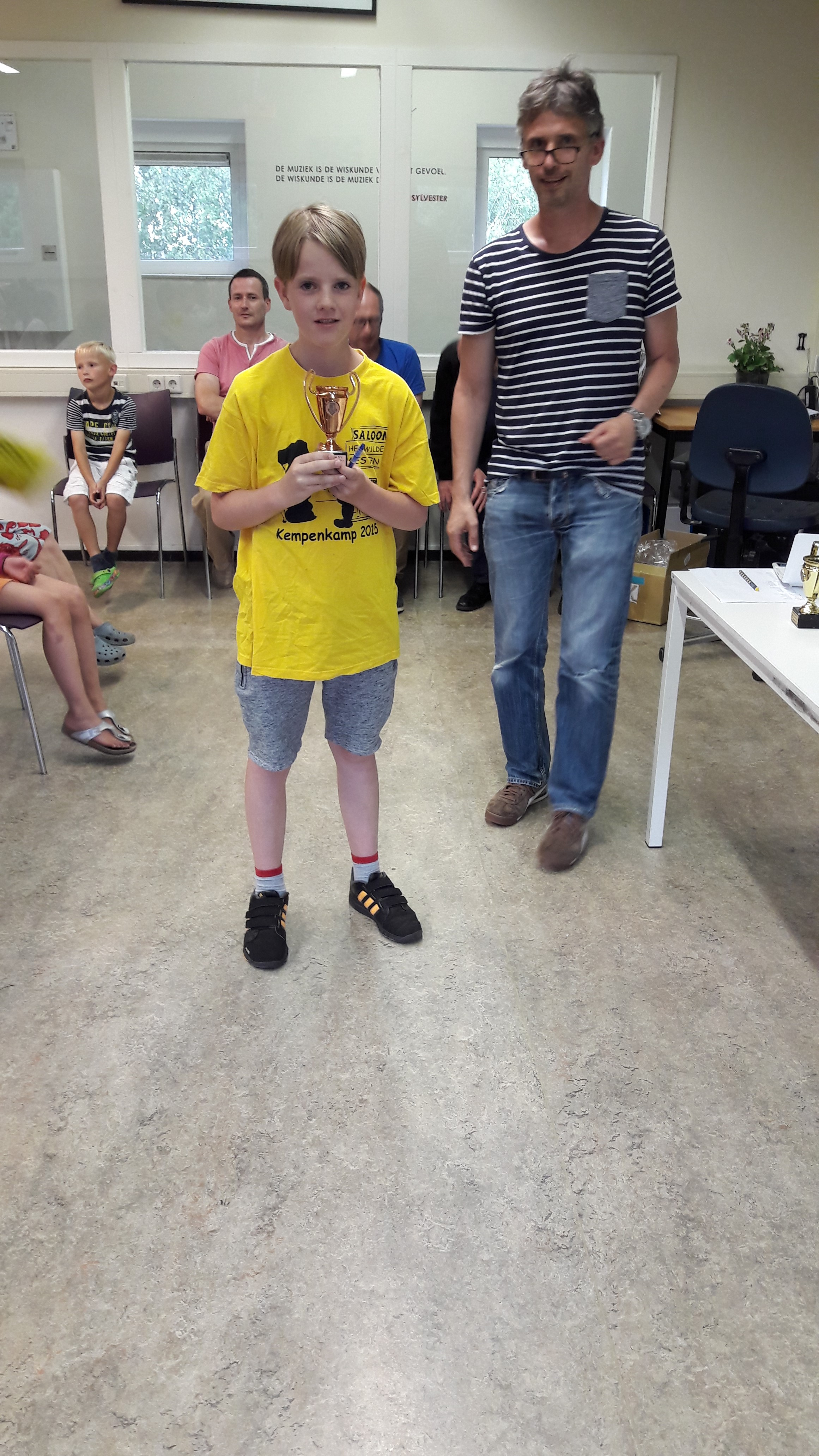 Thomas was in de vorige competitie ook al heel dicht bij een beker. Nu krijgt hij het brons