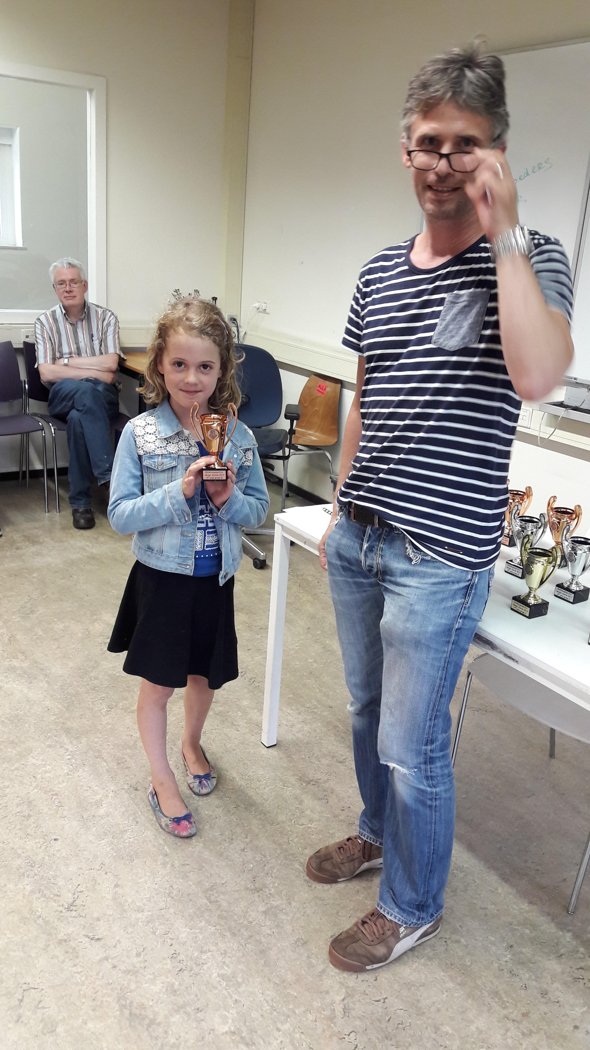 Sofia is blij met haar derde prijs